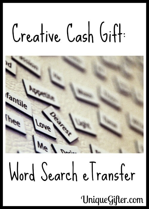 Creative cash gift word search etransfer negle Images