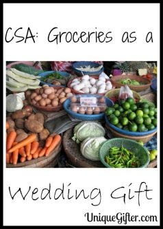 CSA: Groceries as a Wedding Gift