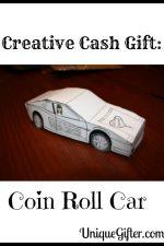 Creative Cash Gift: Coin Roll Car