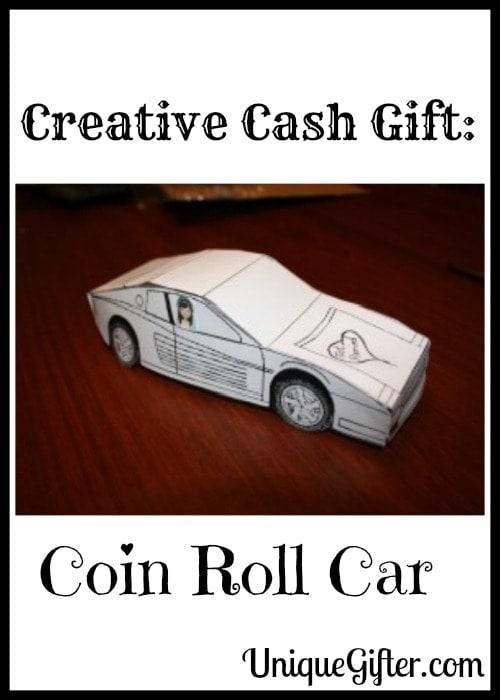 Creative Cash Gift Coin Roll Car
