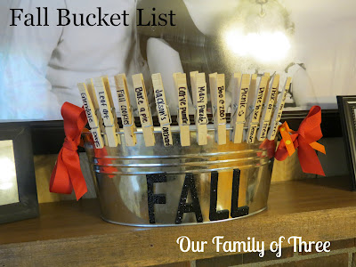 Our Family of Three - Bucket List