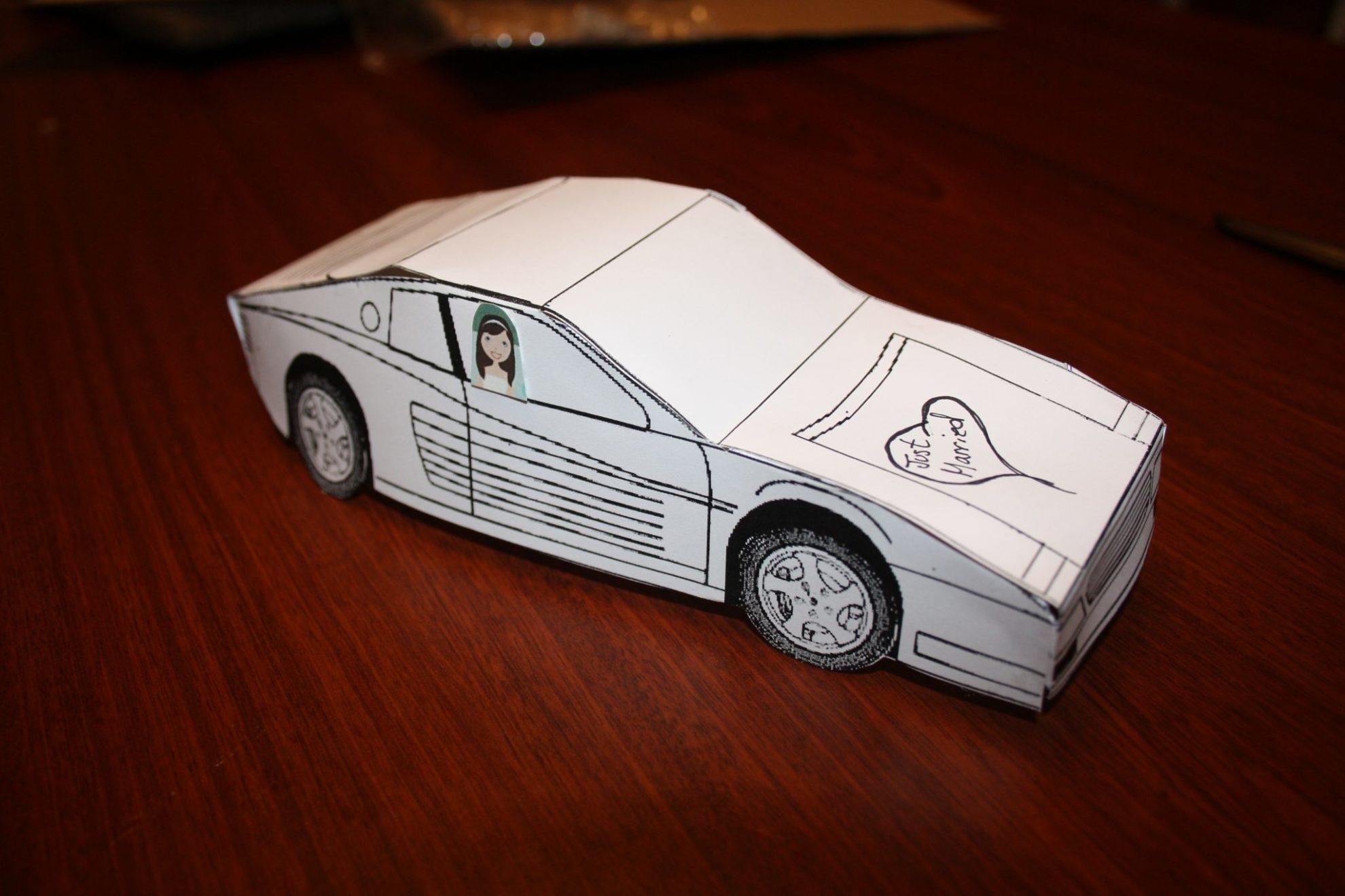 Wedding Cash Gift Guidelines : Creative Cash Gift Coin Roll Car. Cash Wedding Gift Guidelines. View ...