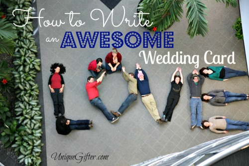 How to Write an Awesome Wedding Card