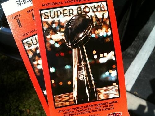 CC Attribution Share Alike - planetc1 - Super Bowl Tickets