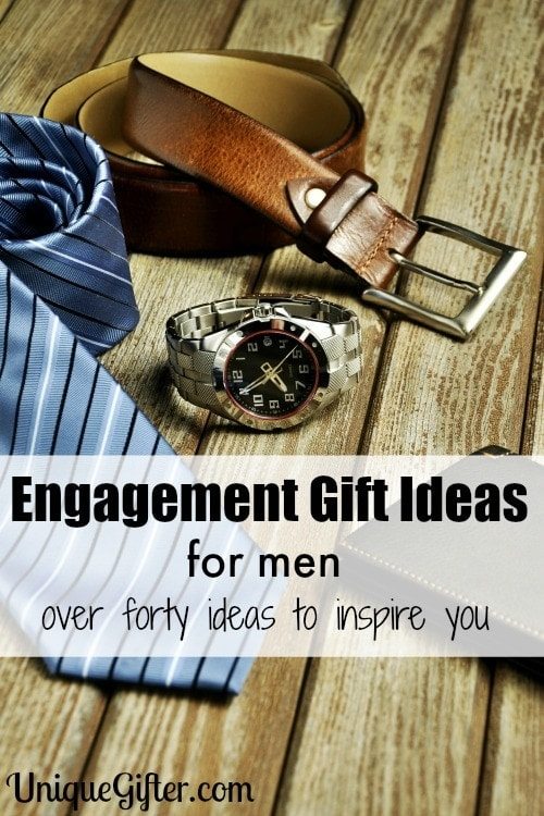 I couldn't figure out what to get my fiance for an engagement gift, but this list was FULL of engagement gift ideas for men! I can't wait to give him what I picked.