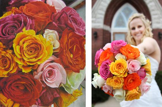 Custom Bouquet Painting Gift Idea
