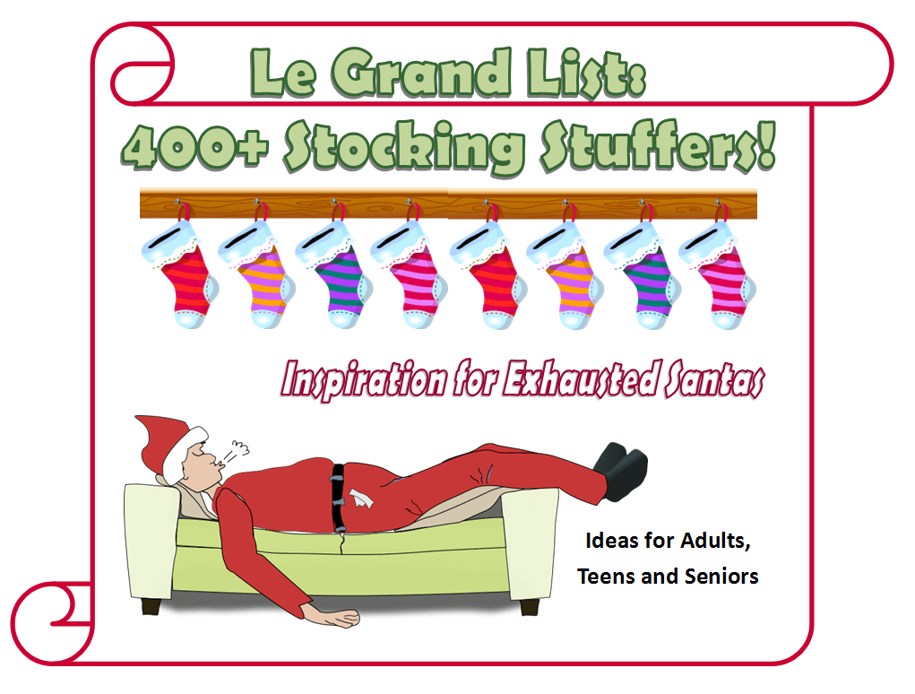 400+ Stocking Stuffer Ideas for Adults, Teens and Seniors
