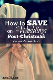 Ways to Save on Weddings Post-Christmas