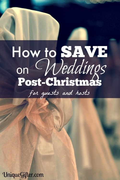 Ways to Save on Weddings Post-Christmas