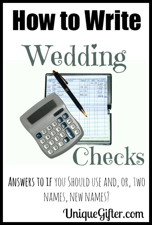 Wedding Gift Check Both Names : Cheque Mate! Wedding Check Writing Tips - Unique Gifter