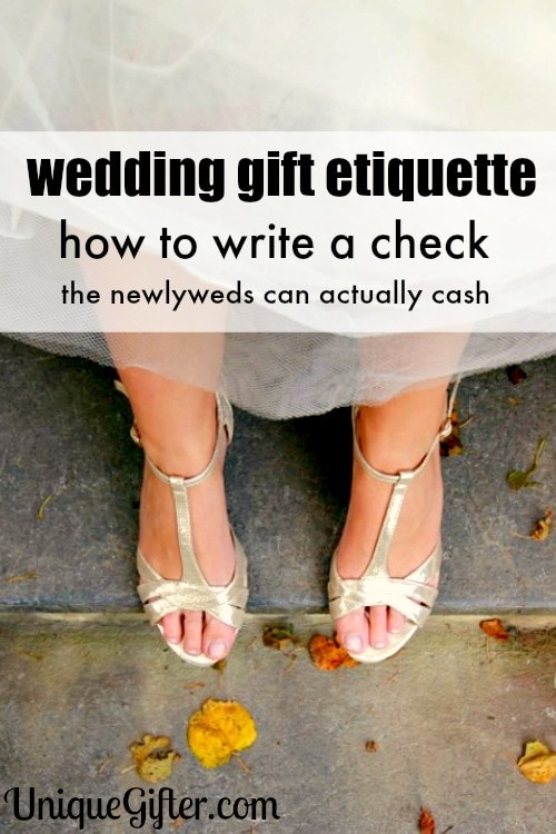 Cheque Mate! Wedding Check Writing Tips - Unique Gifter