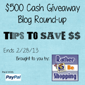 $500 Giveaway and Savings Tips!