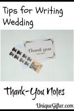 Tips for Writing Wedding Thank-You Notes