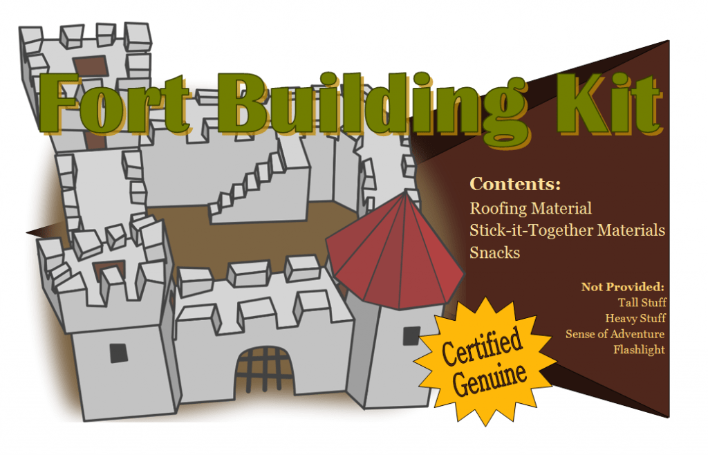 Fort Building Kit Free Printable for Adults - Wedding Gift Idea!