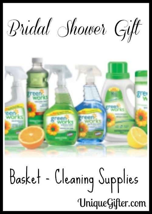 Bridal Shower Gift Basket – Cleaning Supplies