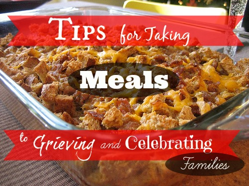 Taking meals to grieving and celebrating families unique for Unique meals