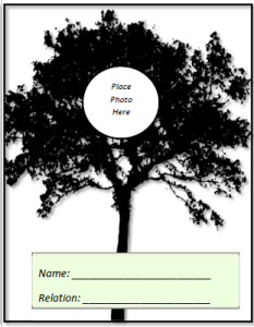 Family Tree Flashcards Face