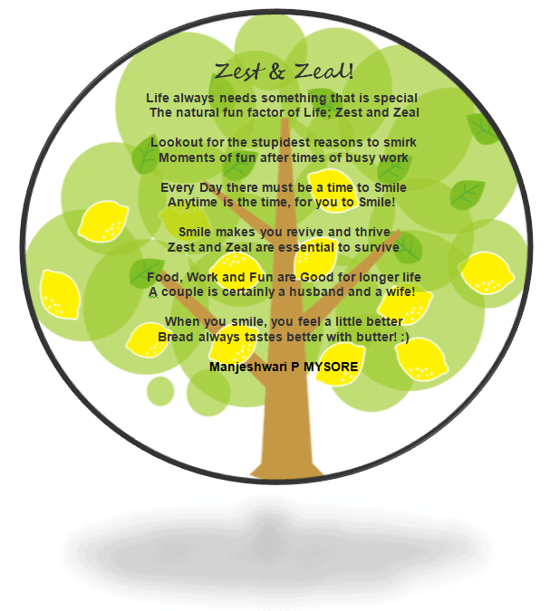 Zest and Zeal Poem