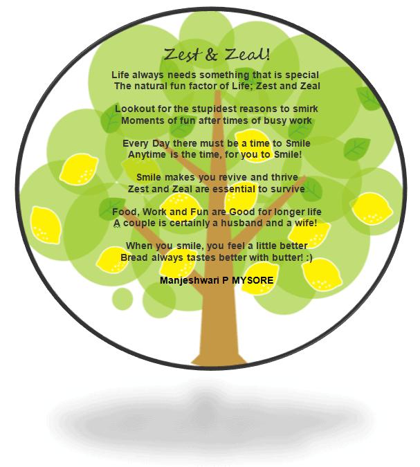 Zest and Zeal Poem