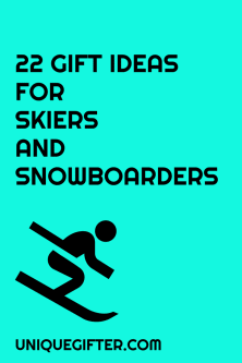 These are awesome gift ideas for skiers and snowboarders. They'll make perfect Christmas presents for my boyfriend.