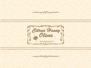 Citrus Honey Olives