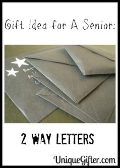 Gift Idea for A Senior: 2 Way Letters