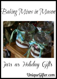 Baking Mixes in Mason Jars as Holiday Gifts
