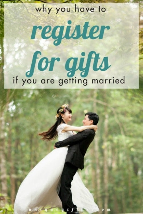 Here's why you HAVE to register for wedding gifts, even if you don't want to. I'm going to use this to convince my fiance.