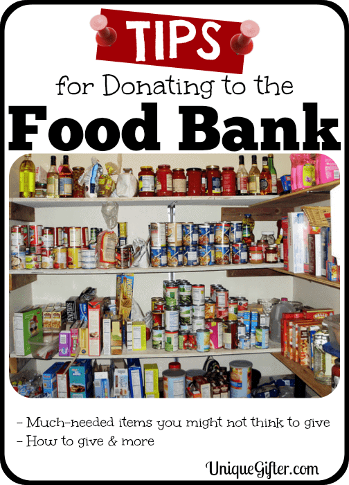 Tips For Donating To Food Banks Unique Gifter