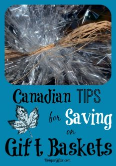 Canadian Tips for Saving on Gift Baskets
