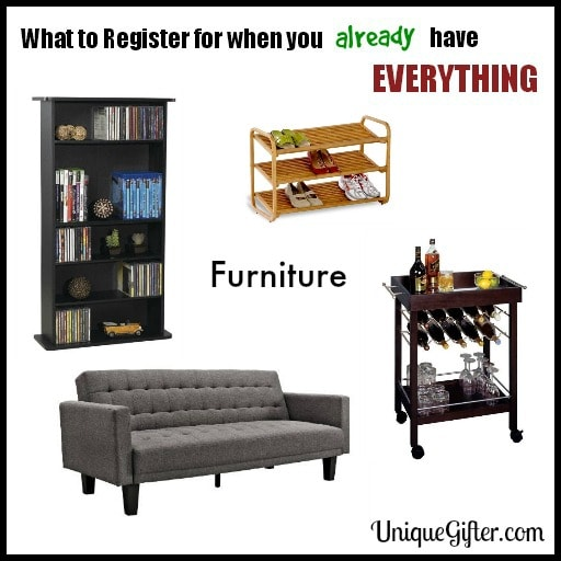 What to Register for - Furniture