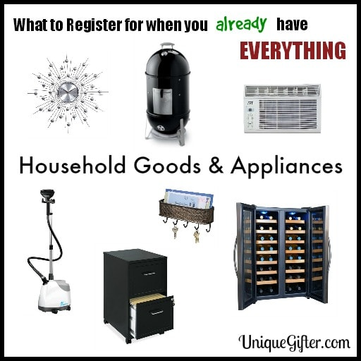 What to Register for - Household Goods & Appliances