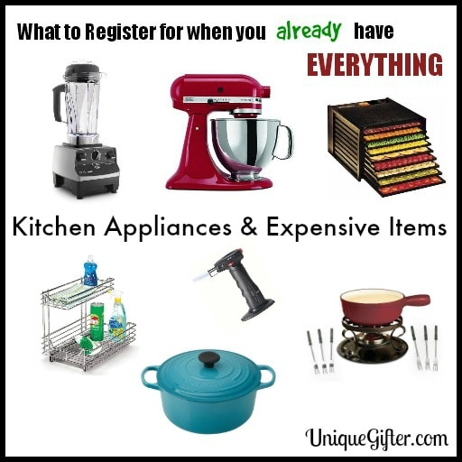 What to Register for - Kitchen