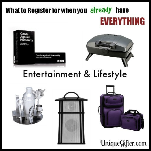 What to register for when I already have everything I want | Original and Unique Wedding Registry tips