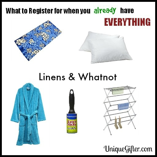 What to Register for - Linens