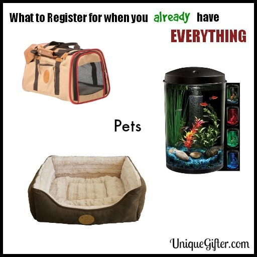 What to Register for- Pets