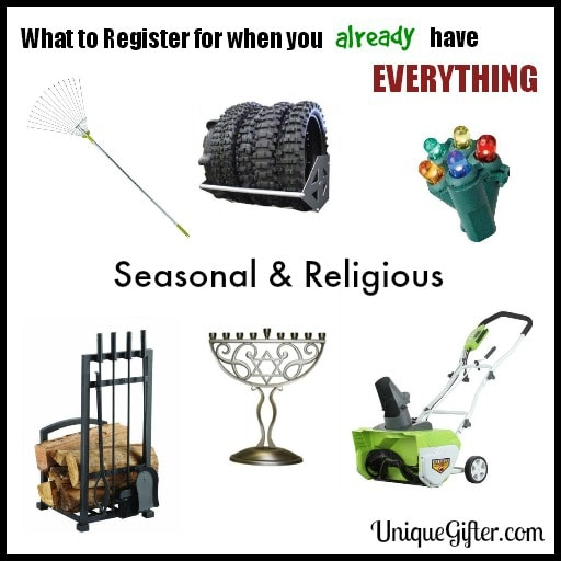 What to Register for - Seasonal