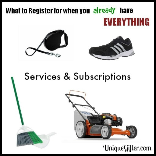 What to Register for - Services