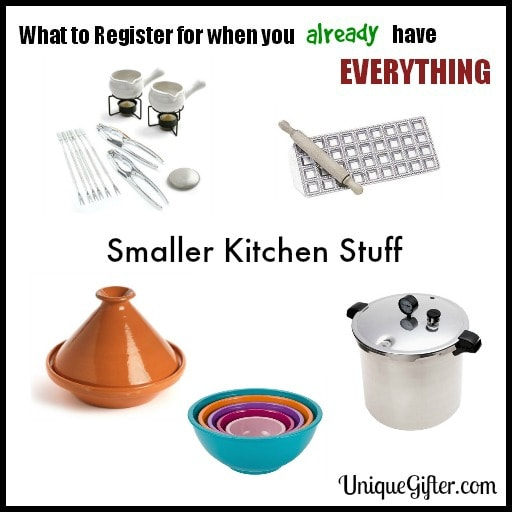 What to Register for - Small Kitchen