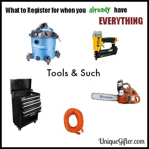 What to Register for - Tools