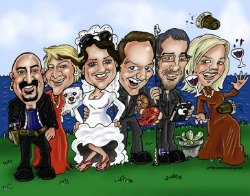 Individual Caricatures of Each Bridesmaid