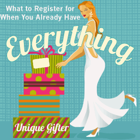 What to register for on a wedding registry when you already own everything you want to own | Button to click through to a free printable wedding registry checklist for millennials, previously married people and people with enough stuff