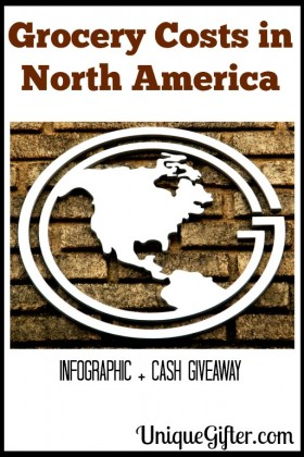 Grocery Costs in North American Infographic and Cash Giveaway