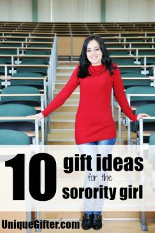 10 Gift ideas for the sorority girl - awesome! I always struggle to figure out what to get college students.