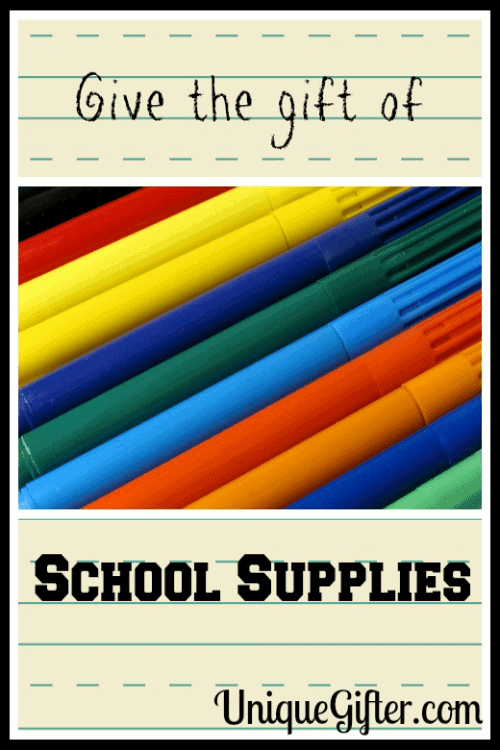 Give the Gift of School Supplies