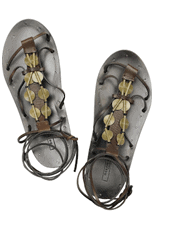 Sandals with metallic accents