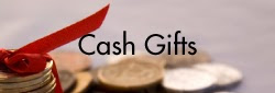 Creative cash gift ideas. Fun and unique ways to give cash gifts. How to wrap cash as a gift.