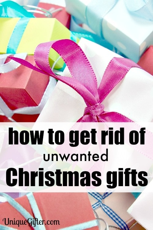 These ideas are great, I had only thought of donating my unwanted Christmas gifts, but there are so many more ways to get rid of them!