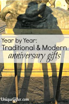 Year by Year - Traditional and Modern anniversary gifts