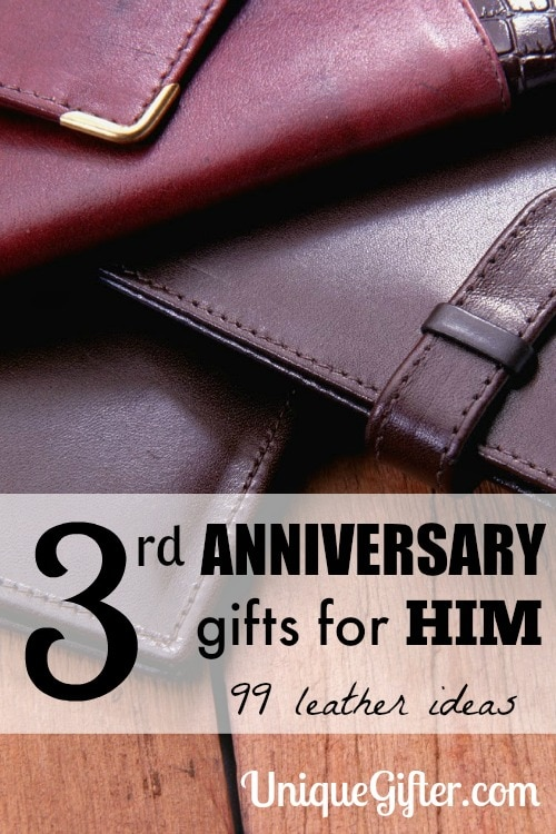 Leather 3rd Anniversary Gifts for Him
